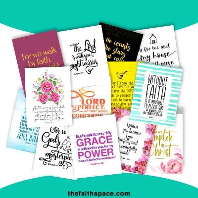60 Free Scripture Printables to Encourage your Faith