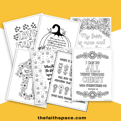 Scripture coloring pages for Valentines, Easter, Thanksgiving, & Christmas